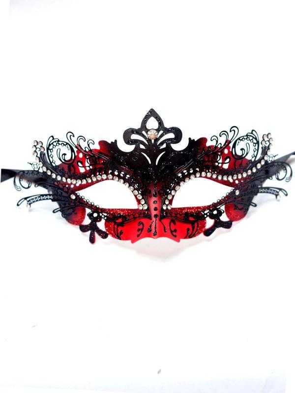 Red-Black-Filigree-Venetian-Mask-b- 89+ Most Stylish Masquerade Masks in 2020