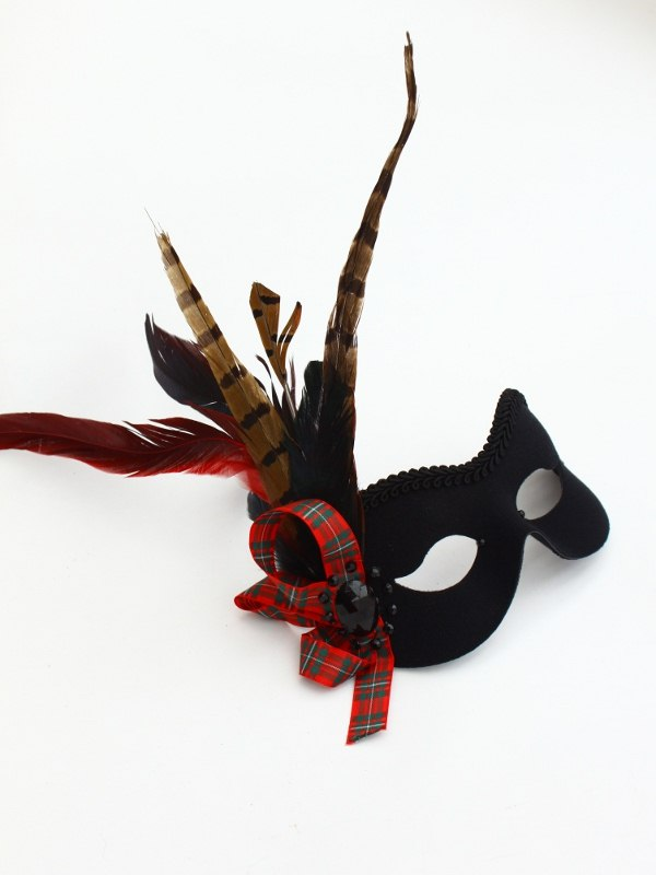 Scottish-Tartan-Masquerade-Mask 89+ Most Stylish Masquerade Masks in 2020