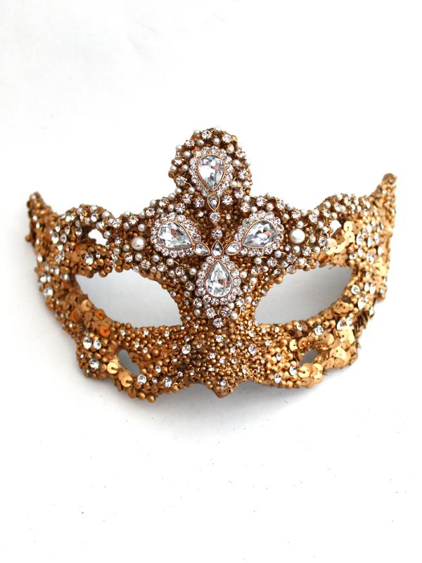 Unique-Luxury-Couture-Expensive-Gold-Baroque-Ornate-Venetian-Masquerade-Mask 89+ Most Stylish Masquerade Masks in 2020
