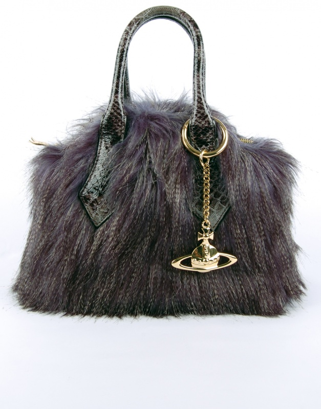 Vivienne-Westwood-5992-Montecarla-Faux-Fur-Handbag-Blue-1-320795 Top 79 Stylish Winter Accessories in 2021