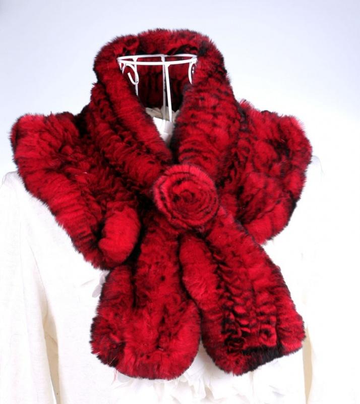 Women-winter-knitted-100-real-rex-rabbit-fur-soft-velvet-flower-multicolor-font-b-flounced-b Top 79 Stylish Winter Accessories in 2018