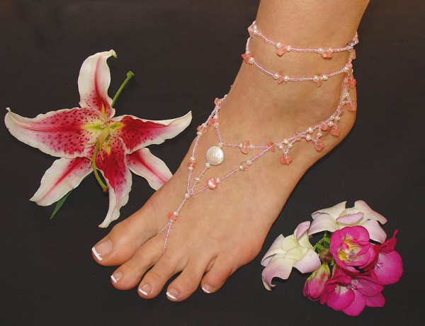 ankle-foot-wrap-jewelry2 Top 89 Barefoot Jewelry Pieces in 2020