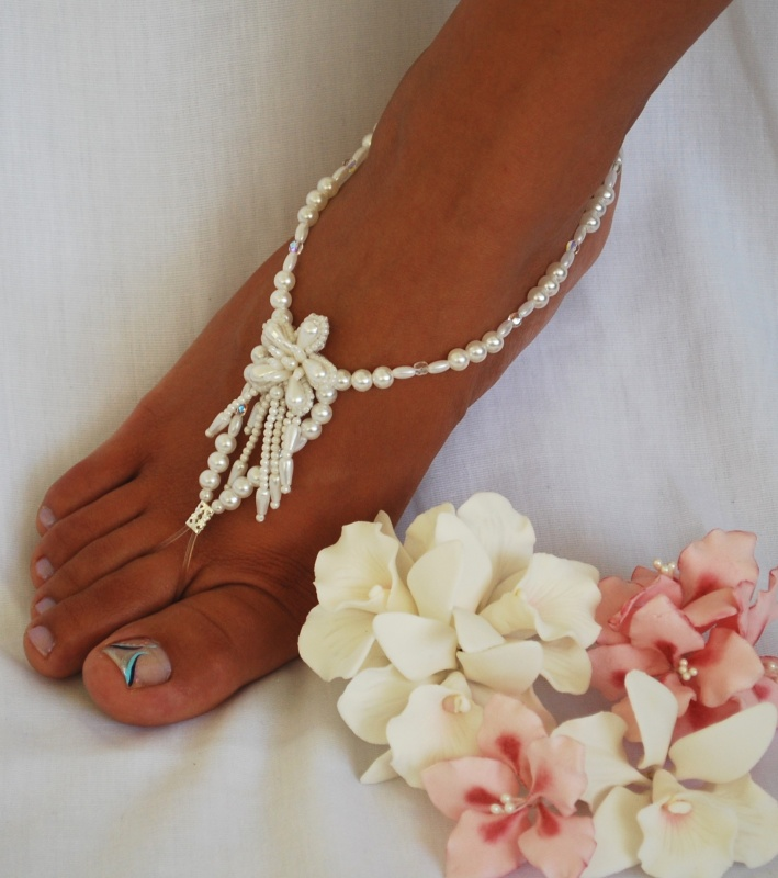 barefootsandal-pearl-cluster Top 89 Barefoot Jewelry Pieces