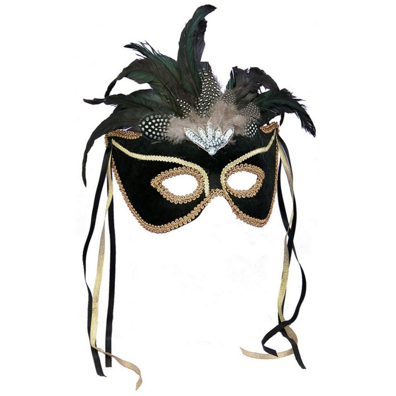 black-feather-couples-mask 89+ Most Stylish Masquerade Masks in 2020