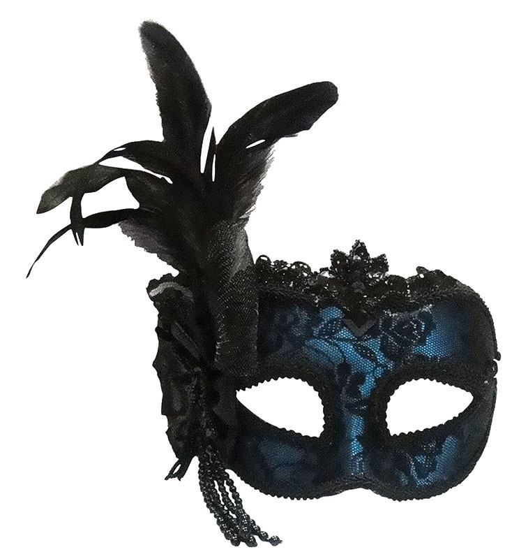 blue-feather-masquerade-masks 89+ Most Stylish Masquerade Masks in 2020