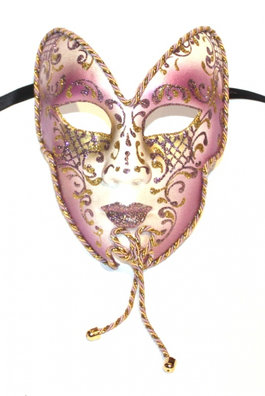cupid-bow-gold-pinky-purple-masquerade-mask-1895-p 89+ Most Stylish Masquerade Masks in 2020
