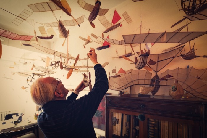flying-4 Prina,The 83 Years Old Architect With His Imaginative Flying Boats