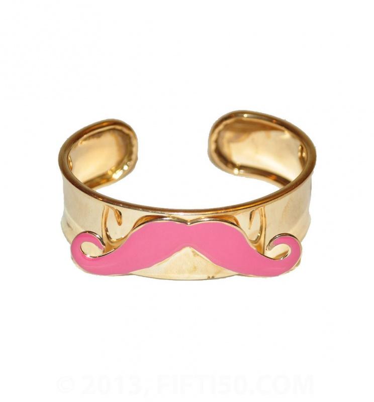 mustache-cuff-bracelet-pink_1024x1024 49 Famous Forearm Jewelry Pieces