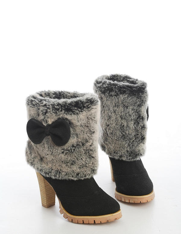 nongli-faux-fur-detail-boots-black Top 79 Stylish Winter Accessories in 2021