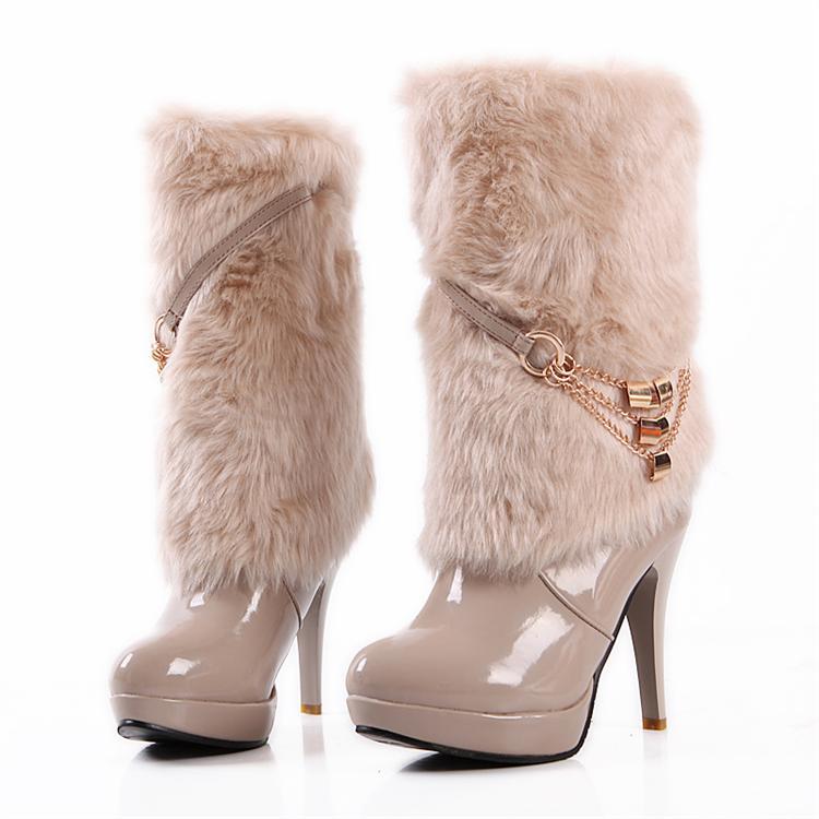oRdGhigh-heel-fur-boots-platform-medium-leg-boots-rabbit-fu Top 79 Stylish Winter Accessories in 2021