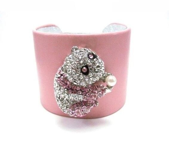 panda-bear-leather-cuff-bracelet-silver-and-pink-j-UDU2Ny0xMDAwNDMuMzE3OTk1 49 Famous Forearm Jewelry Pieces