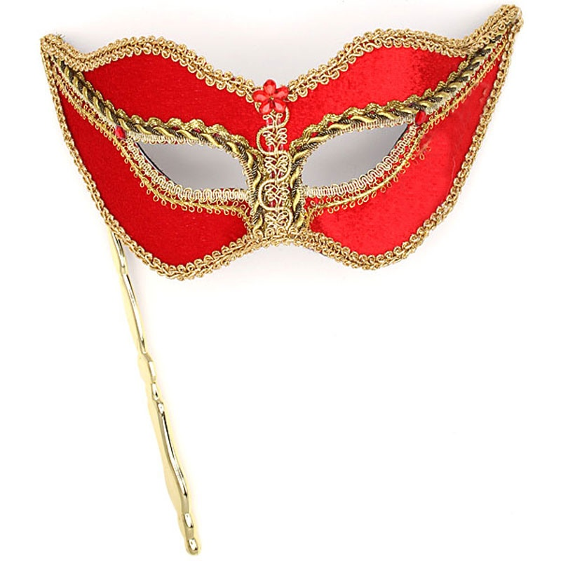 red-mardi-gras-mask-hand-held-800x800 89+ Most Stylish Masquerade Masks in 2020