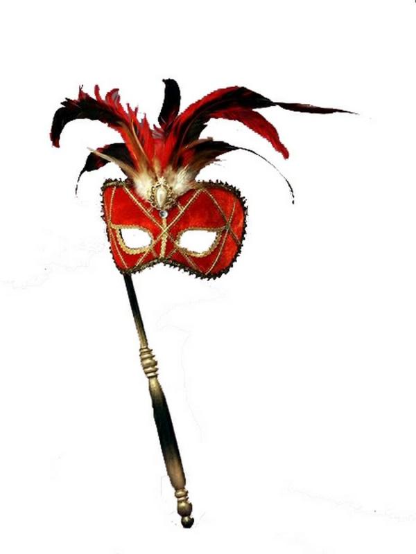 red-stick-mask 89+ Stylish Masquerade Masks in 2018