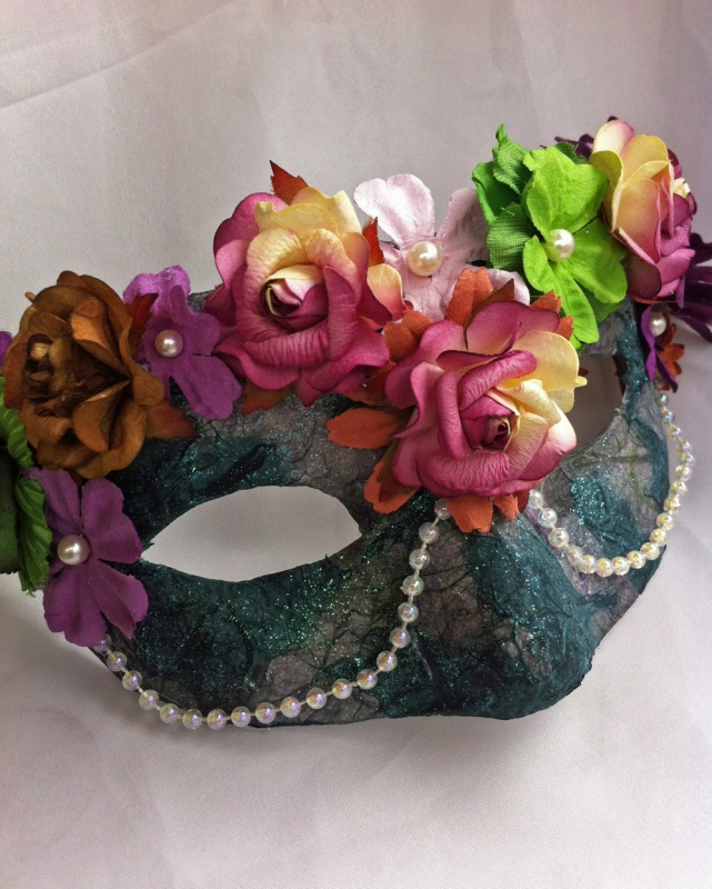 rhoslyn_spring_flower_masquerade_mask_by_daragallery-d618odj 89+ Stylish Masquerade Masks in 2018