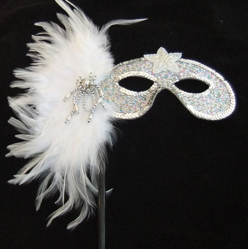 silver-mask-with-creamy-white-feathers-681-p 89+ Most Stylish Masquerade Masks in 2020