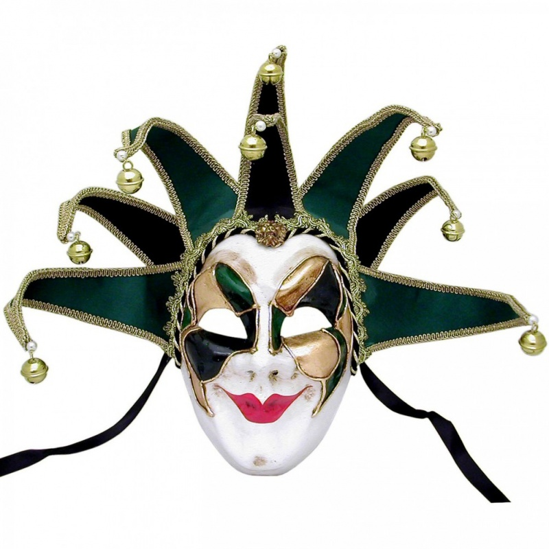 venetian-masquerade-mask-joker-velvet-green-detail__93577.1311634809.1002.1002 89+ Stylish Masquerade Masks in 2018