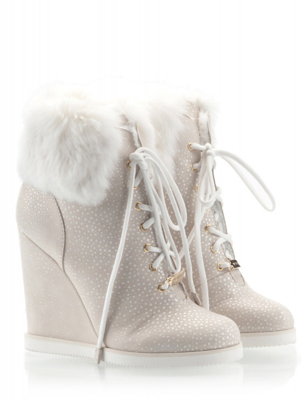 vicini-wedge-high-heel-ankle-boots-fur-cuff-lining-beige-suede-leather-white-flakes-lace-up-apre-ski-1 Top 79 Stylish Winter Accessories in 2018