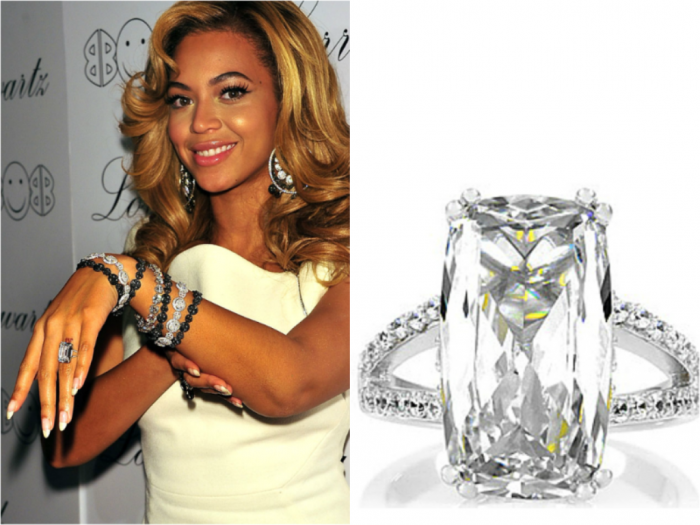 Beyonce-Ring Top 10 Most Expensive Women's Wedding Rings