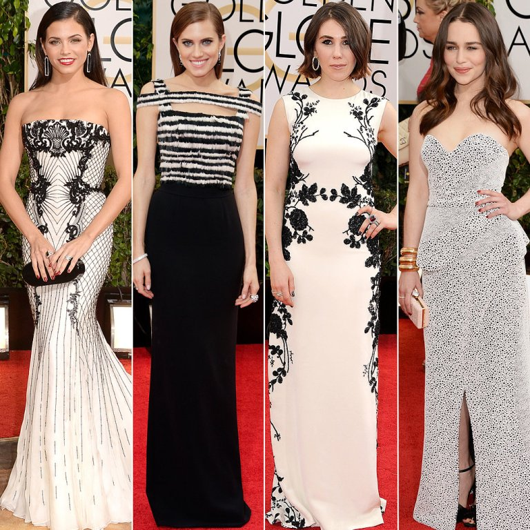Black-White-Dresses-Golden-Globes-2014 Top 10 Fabulous & Stunning Fashion Trends for 2019
