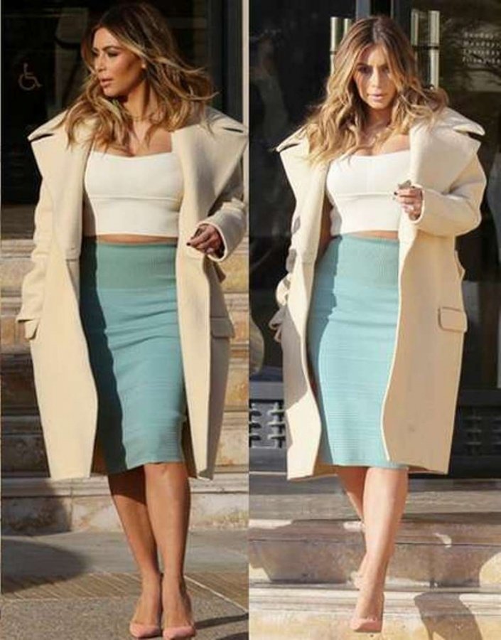 Kim-Kardashian-Generous-Curves-Wore-Crop-Top-Size-XS-Pencil-Skirt-High-waist-03 Top 10 Fabulous & Stunning Fashion Trends for 2019