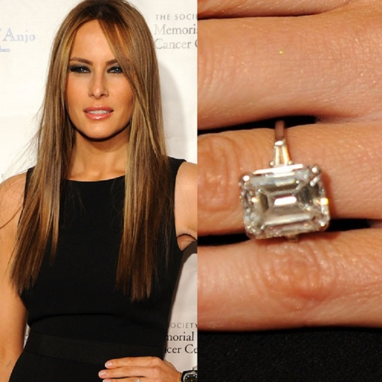 Melania-Trump-Engagement-Ring Top 10 Most Expensive Women's Wedding Rings