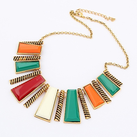 Min-order-10-mix-multi-color-statement-necklace-chunky-2013-jewelry-wholesale-fashion-tribal-geometric-necklaces These 25+ Multicolor Jewels Will Live Up Your Outfit And Uplift Your Mood As Well