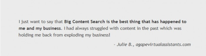 """New-Picture2 Save Money & Access Hundreds of Ready-to-Publish Content with """"Big Content Search"""""""