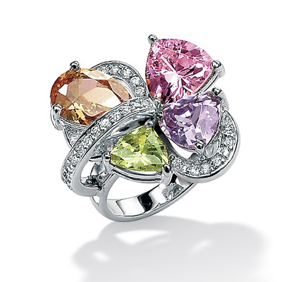 Palm-Beach-Jewelry-Multi-Color-Cubic-Zirconia-Sterling-Silver-Ring These 25+ Multicolor Jewels Will Live Up Your Outfit And Uplift Your Mood As Well