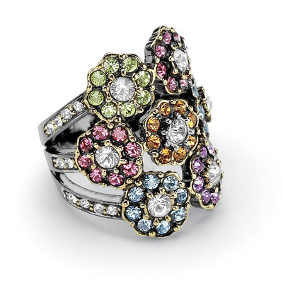 Palm-Beach-Jewelry-Multi-Colored-Crystal-Flower-Ring These 25+ Multicolor Jewels Will Live Up Your Outfit And Uplift Your Mood As Well
