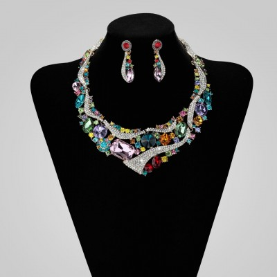 Rhinestone-Crystal-Wedding-Bridesmaid-Jewellery-Set-Multicolor-1__47176_std These 25+ Multicolor Jewels Will Live Up Your Outfit And Uplift Your Mood As Well