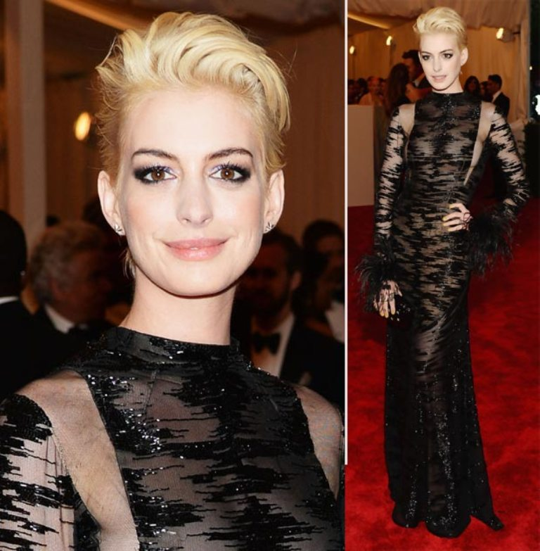 anne-hathaway-valentino-sheer-black-dress-2013-met-gala Top 10 Fabulous & Stunning Fashion Trends for 2019