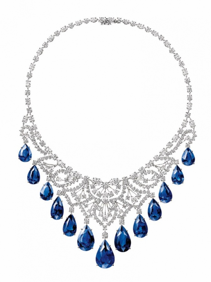 biennale-harry-winston-sapphire_and_diamond_cascading_drop_necklace 2019 Trends: Top 10 Luxury Jewelry Brands in the World