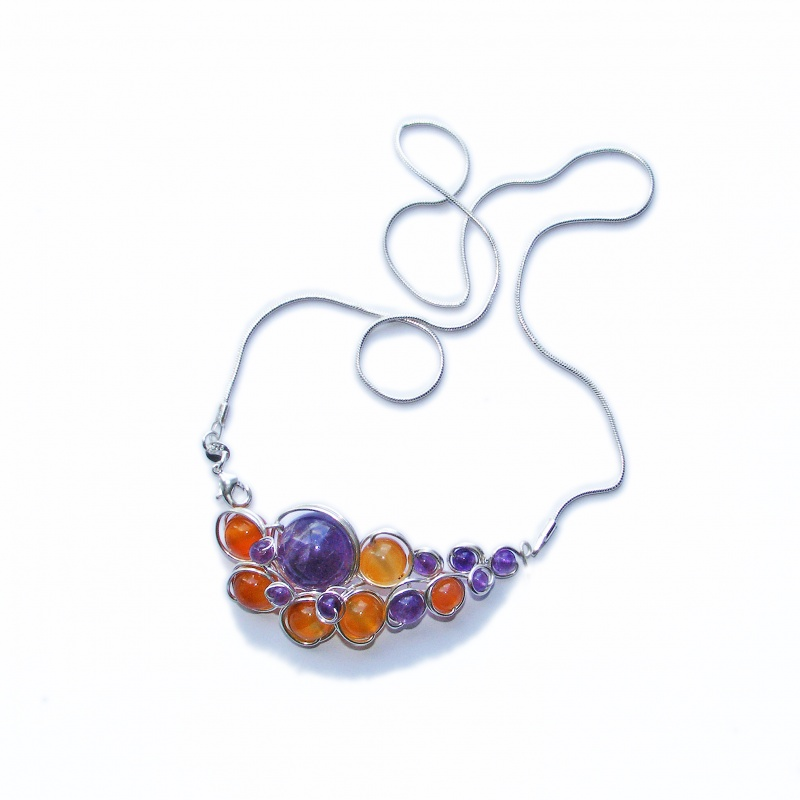 colier-sarma-argint-925-bijuterii-handmade-jewelry-ametist-agat-silver-wire Make Special Gifts For Your Friends with Wire Jewelry
