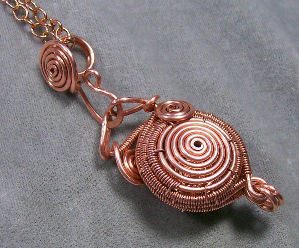 copper-spiral-wire-work-locket-heather-jordan Make Special Gifts For Your Friends with Wire Jewelry