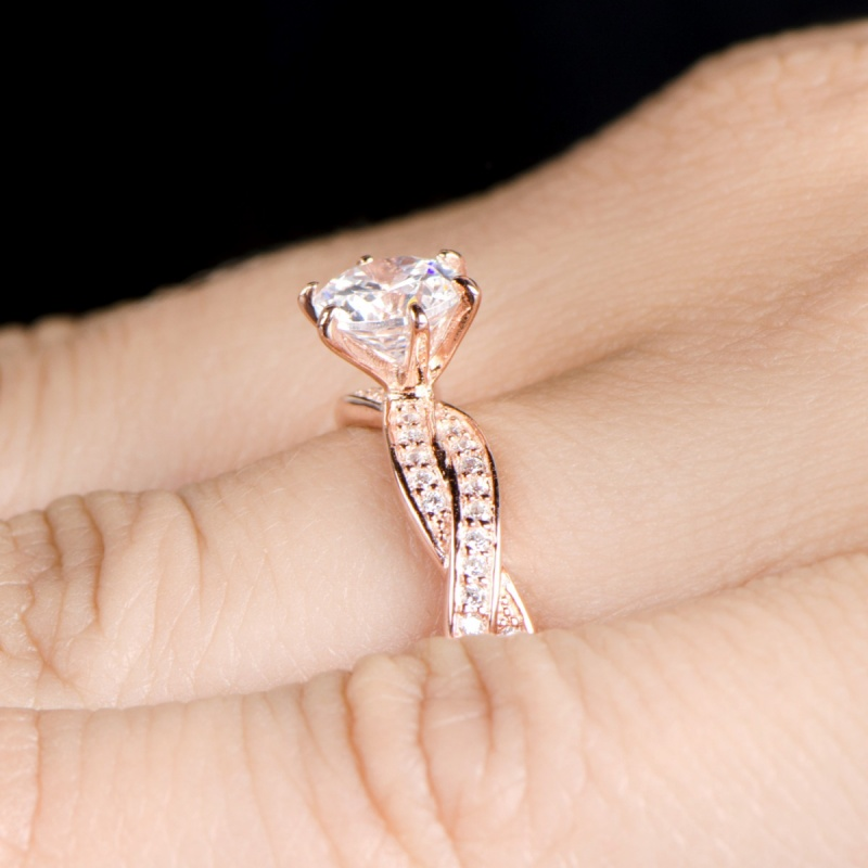 devera-s-twisted-cz-engagement-ring-rose-gold-62 30 Elegant Design Of Engagement Rings In Rose Gold