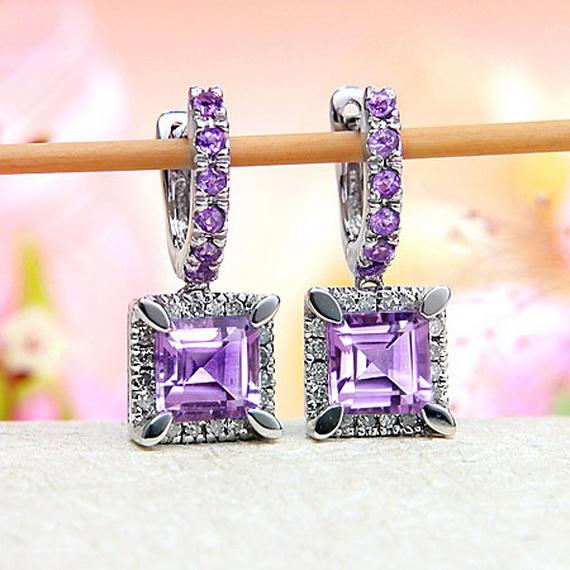 diamond-hoop-earrings1 35+ Most Fashionable Women and Girls Earrings Designs