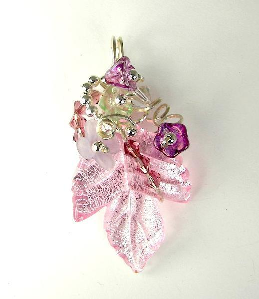 full_41_6399_PinkLampworkPendantWireWrapped_1 Make Special Gifts For Your Friends with Wire Jewelry