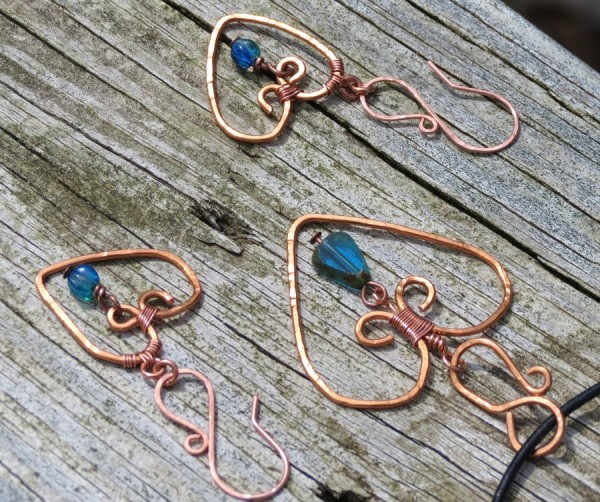 hammered_copper_wire_wrapped_jewelry_by_jrc1385-d4v4jxj Make Special Gifts For Your Friends with Wire Jewelry