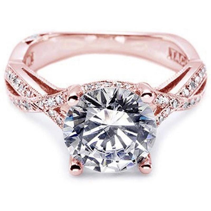 rose-gold 30 Elegant Design Of Engagement Rings In Rose Gold