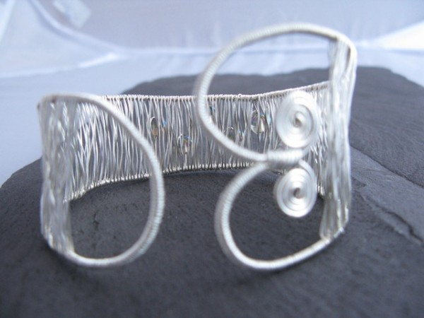 silver-wire-woven-cuff-bracelet-2-225-p Make Special Gifts For Your Friends with Wire Jewelry