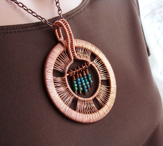 sparkflight-copper-pendant Make Special Gifts For Your Friends with Wire Jewelry