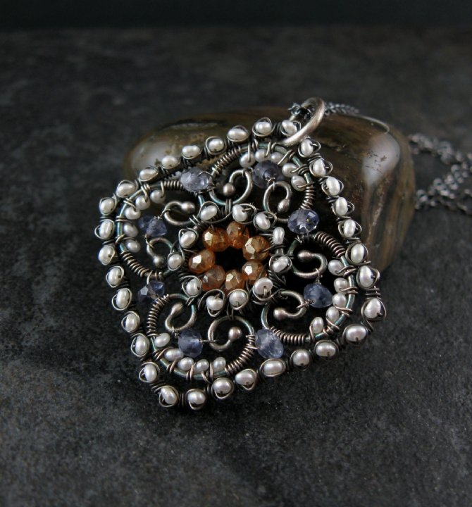 wire-work-gemstone-pendant Make Special Gifts For Your Friends with Wire Jewelry