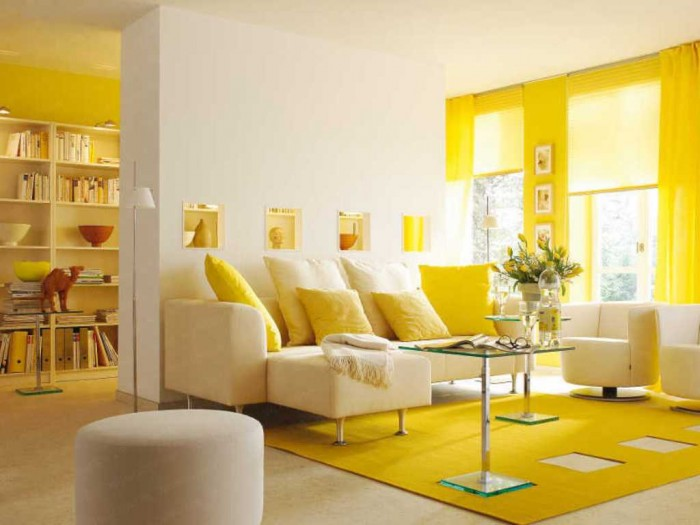 20-Yellow-Living-Room 37+ Newest Home Interior Color Trends for 2019