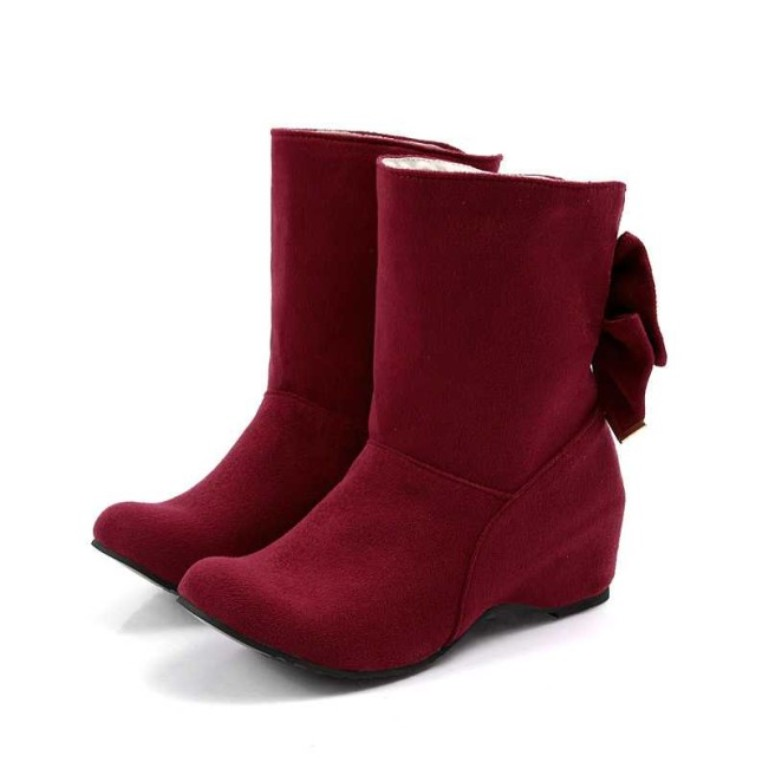 2013-Fall-Winter-Suede-Cowboy-Boots-For-Women-With-Bowknot 2017 Boot Trends for Women