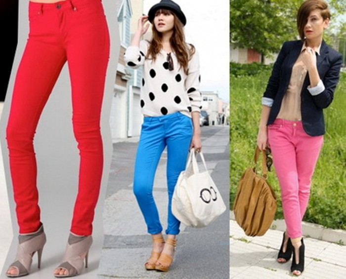 2014-Colorful-Jeans-Denim-Pants-Trend-Fashion 27+ Latest & Hottest Jeans Fashion Trends Coming for 2019