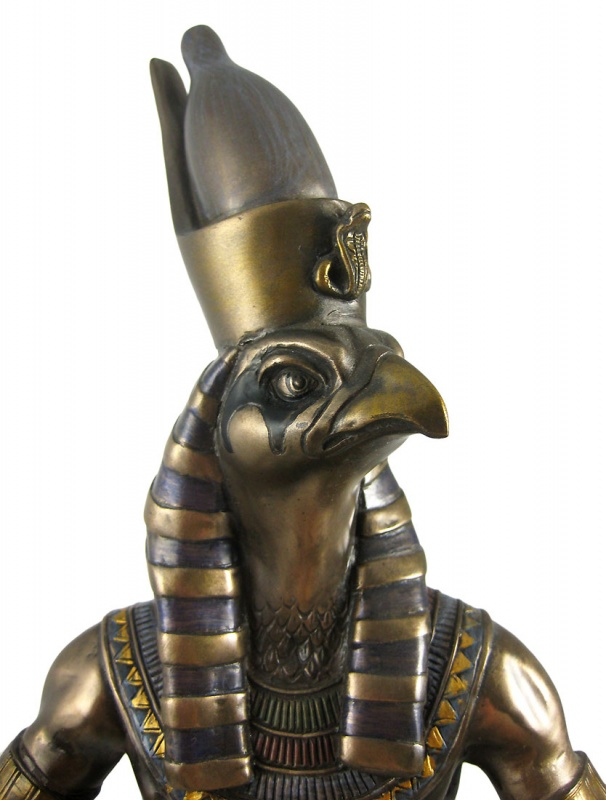 33438_horus_egyptian_warrior_spear_statue_4M 39 Most Famous Pharaohs Gold Statues