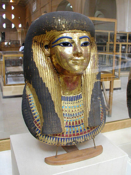 449px-Mummy_mask_of_Thuya 39 Most Famous Pharaohs Gold Statues