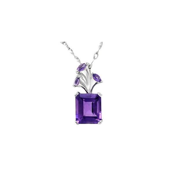 5-carat-emerald-cut-amethyst-flower-pendant-necklace-for-women Iolite stone [11 Hidden Secrets and Facts...]