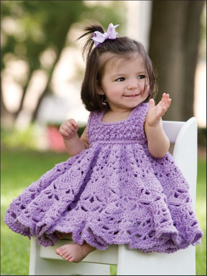 7840_1 25 Magnificent & Dazzling Collection of Crochet Dresses for Baby Girls
