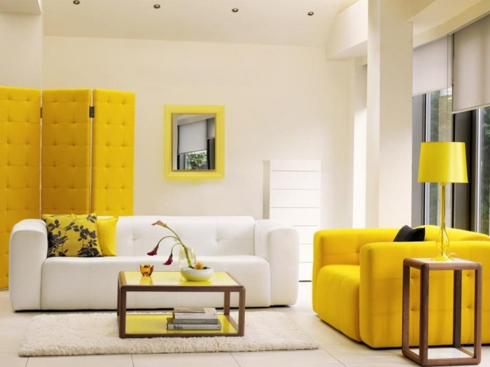 9_yellow-living-room-furniture 37+ Newest Home Interior Color Trends for 2019